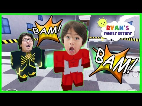ROBLOX Heroes of Robloxia! Let's Play Family Game Night with Ryan's Family Review