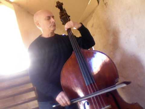 "BACH Suite No 5  "" Sarabande ""   Jean-pierre Robert   double bass contrebasse"