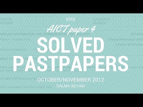 AICT A2 CIE OCTOBER/NOVEMBER 2012 P4