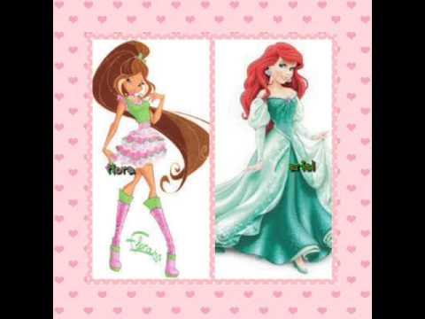 Winx club vs disney princess youtube - Princesse winx ...
