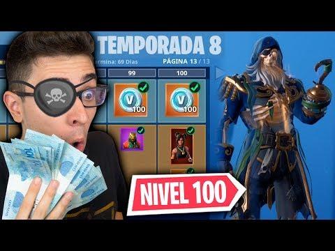 LIBEREI TUDO! NOVO PASSE DE BATALHA DA TEMPORADA 8 DO FORTNITE!! thumbnail
