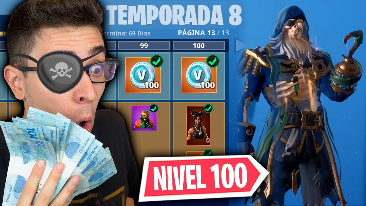 LIBEREI TUDO! NOVO PASSE DE BATALHA DA TEMPORADA 8 DO FORTNITE!!
