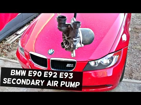 bmw e90 e92 e93 fuse box location and fuse diagram 318i 320i 323i bmw e90 e92 e91 e93 secondary air pump removal and replacement