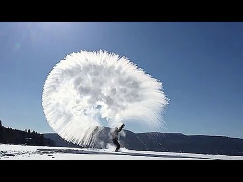 *INCREDIBLE* Boiling water in -50°C turns into instant ice crystals