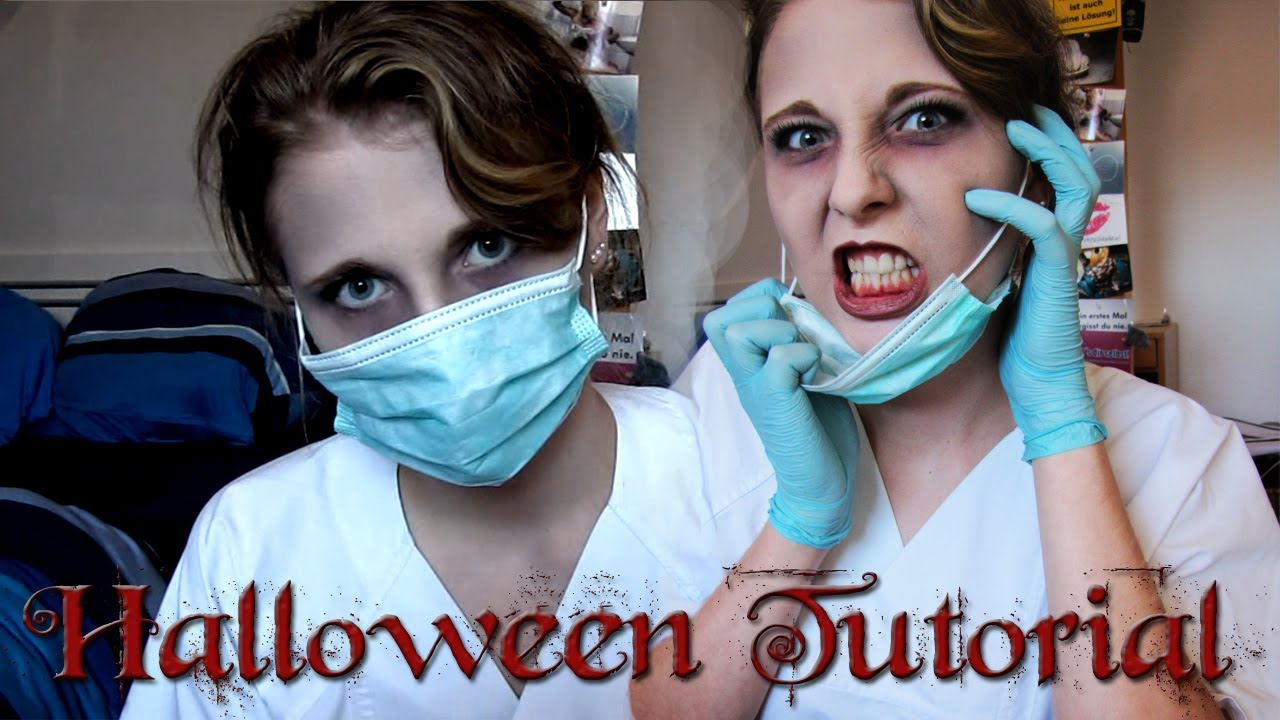 Halloween Make-up Tutorial Nurse - YouTube