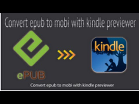 How to convert EPUB to MOBI Ebook with kindle previewer