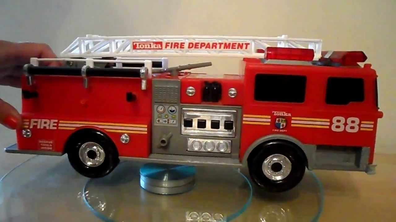 Small Tonka Toys Fire Engine With Lights And Sounds Youtube