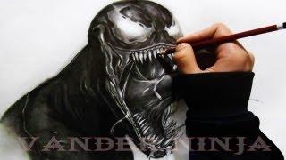 DRAWING VENOM (Spider Man) By - VanderNinja