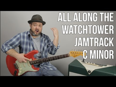Jam Track in C Minor  Jimi Hendrix All Alg the Watchtower style
