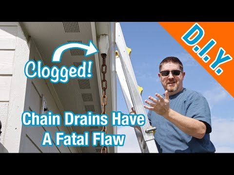 Watch Out For This If You Have Rain Chains (Gutter Completely FULL!)