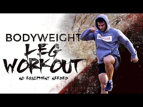 Bodyweight Leg Workout - No Equipment Needed