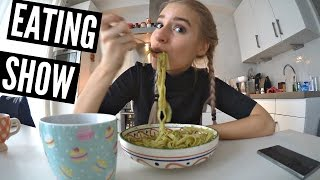 EATING SHOW: Delish Pesto Pasta!!