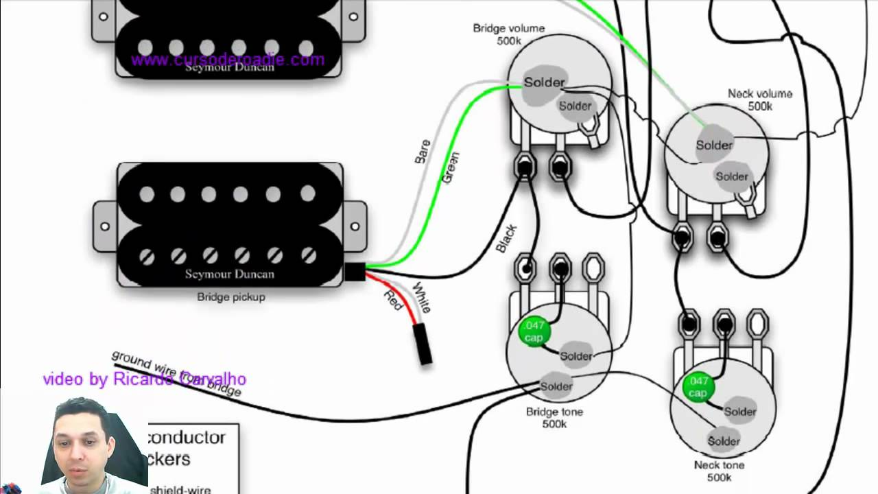 gibson les paul standard wiring diagram  | youtube.com