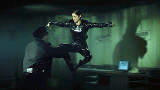 """Первое появление Тринити - """"Матрица"""" отрывок из фильма"""