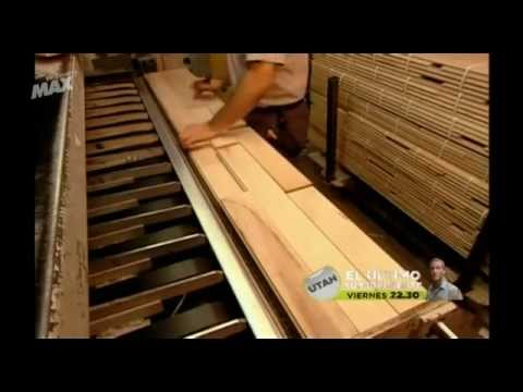 Fabricacin tarima madera maciza MadridForestmp4  YouTube