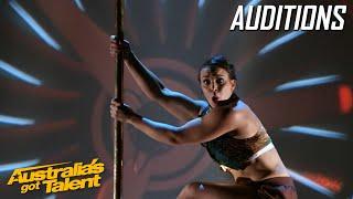 Mesmerising Pole Dancer| Auditions | Australia's Got Talent 2019
