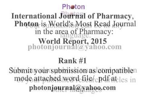 Pharmacognosy Research
