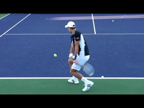 Novak Djokovic Forehand and Backhand from Back Perspective - Indian Wells  2013 - YouTube 48edcad652dcc