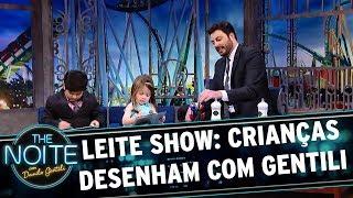 Leite Show: As crianças desenham com Gentili | The Noite (16/10/17)
