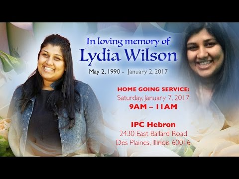HOME GOING SERVICE: Lydia Wilson