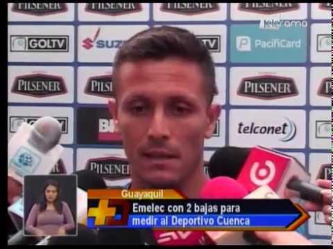 Emelec con 2 bajas para medir al Deportivo Cuenca