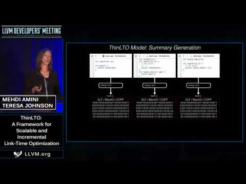 "2016 LLVM Developers' Meeting: M. Amini & T. Johnson ""ThinLTO: Scalable and Incremental LTO"""