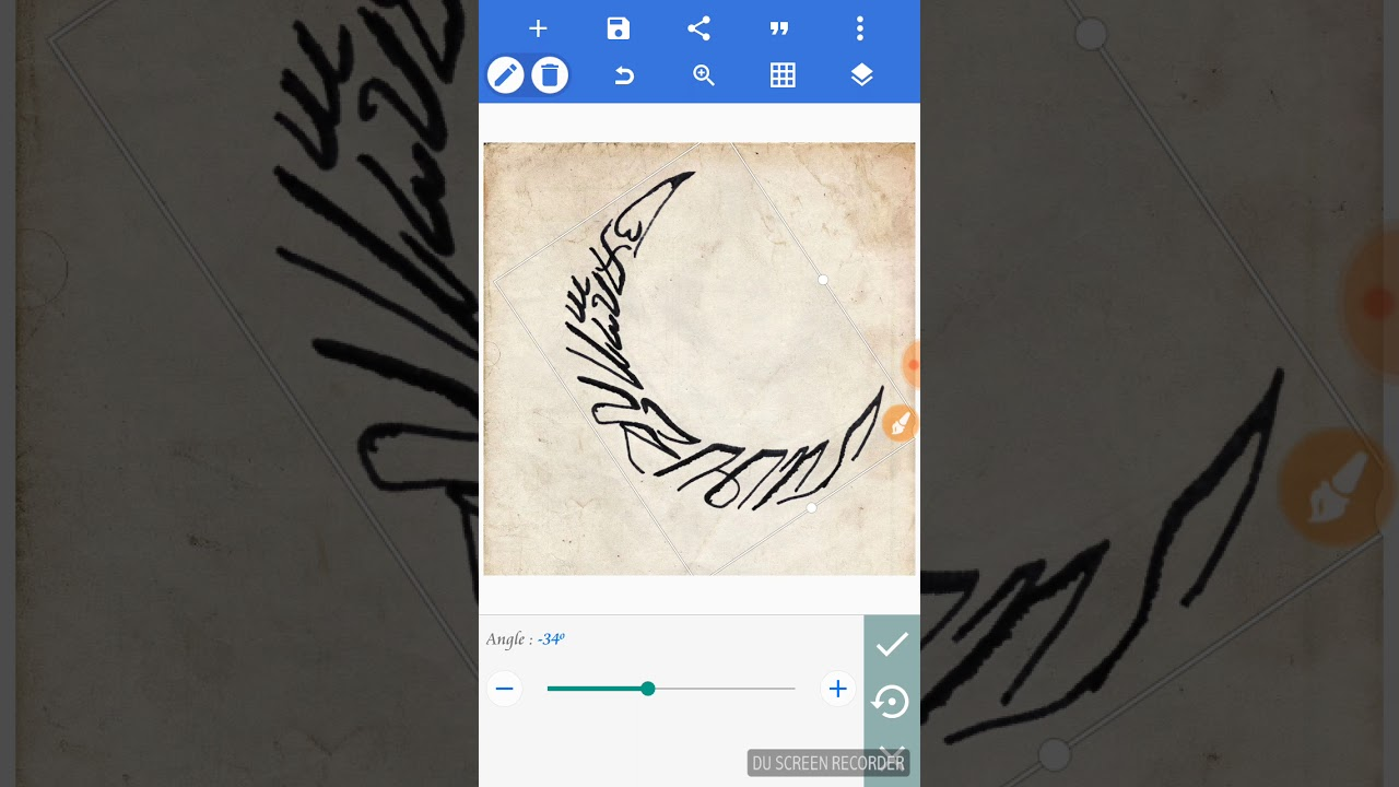 Cara Menyunting Kaligrafi Aksara Jawa Di Hp Youtube