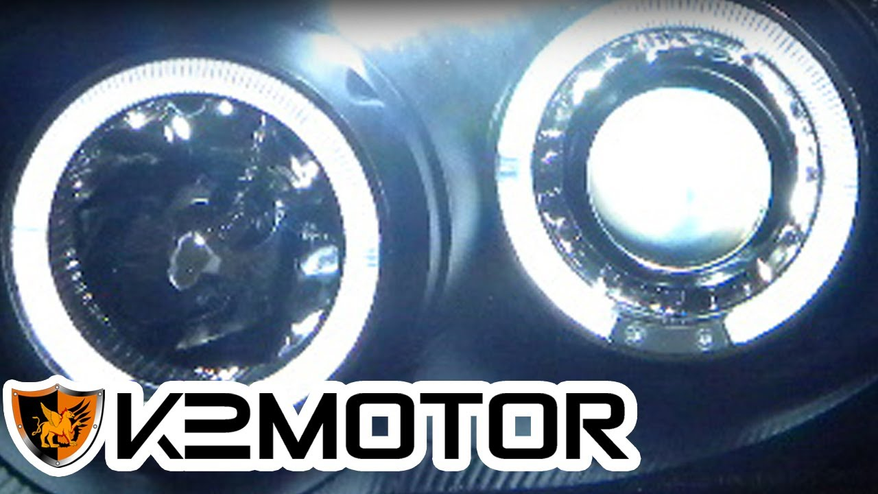 hight resolution of k2 motor installation video halo led projector headlights wiring installation youtube