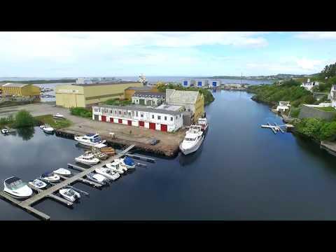 Haugesund og Nord-Karmøy fra luften