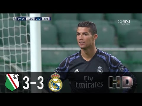 Legia vs Real Madrid 3-3 Goles Resumen HD (Relato Miguel Simón) 2016