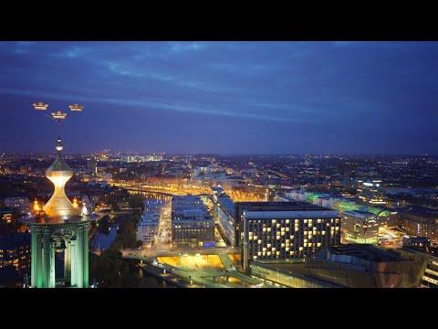 2180. Stadshuset (Stockholm City Hall) Stock Footage Video