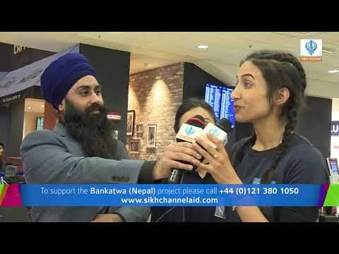 210218 Sikh Channel Aid Volunteers at Birmingham Airport