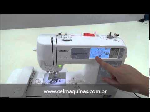 dde7e1fd7eca5 Máquina de Bordado Brother PE450 - YouTube