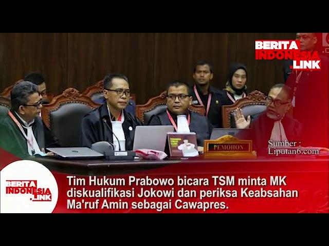 Tim Hukum 02 bicara TSM, minta MK diskualifikasi Jokowi & periksa keabsahan Ma'ruf Amin sbg Cawapres