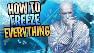 FORTNITE - How To FREEZE EVERYTHING In Save The World (New ICY SHOT Perk)