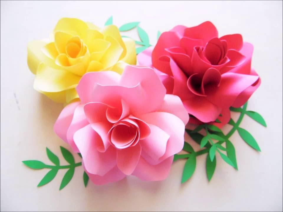 DIY Paper flowers - YouTube