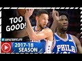 Joel Embiid 28 Pts & Ben Simmons 16 Pts Full Highlights vs Trail Blazers (2017.11.22) - TOO GOOD!