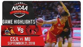 NCAA 94 MB: CSJL vs. MU | Game Highlights | September 21, 2018