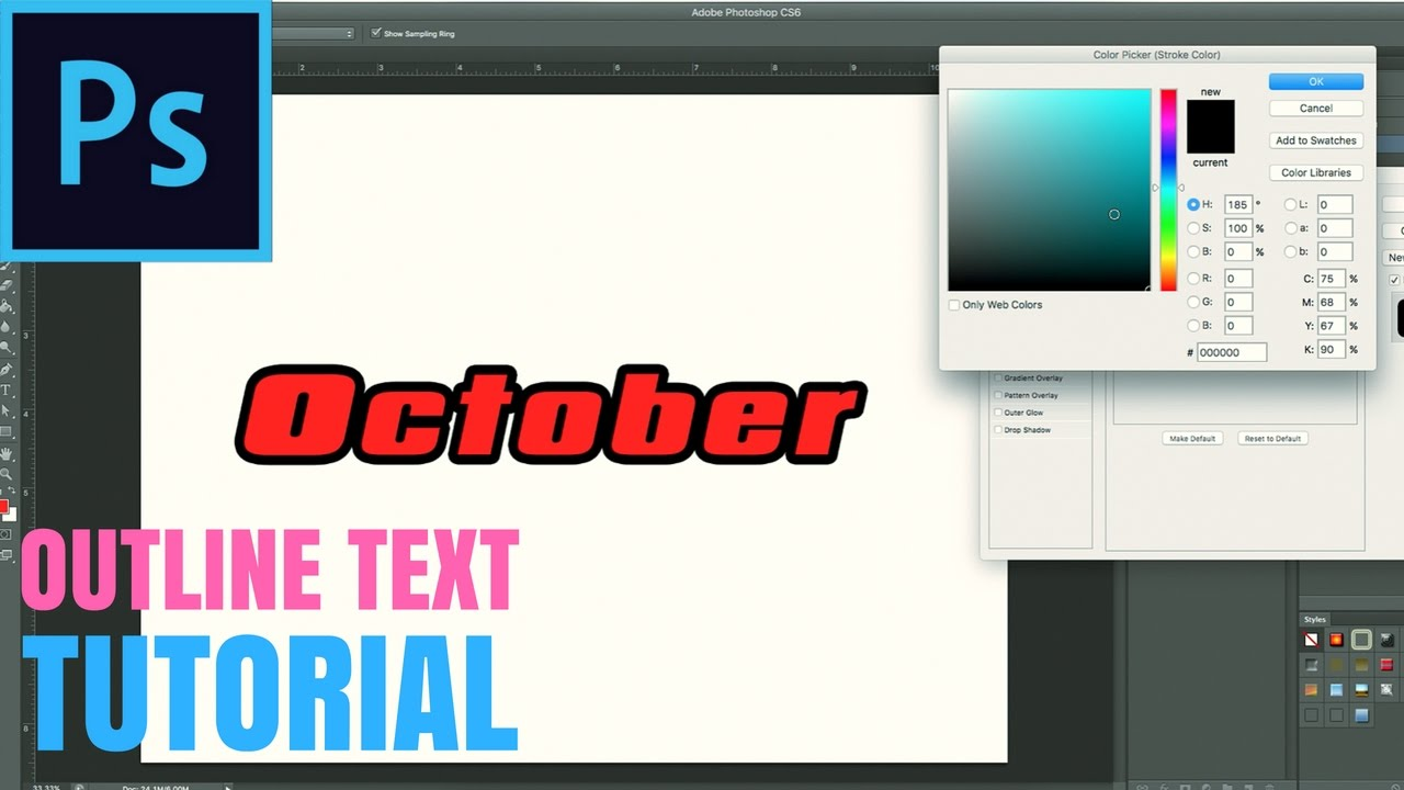 How to Easily Outline Text in Photoshop