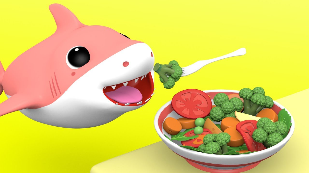 Baby Shark with - Yes Yes Vegetables Song - Nursery Rhymes Songs for Children