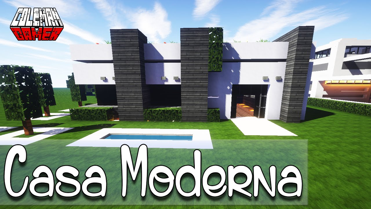 Minecraft como hacer una casa moderna tutorial youtube for Casa moderna madera minecraft