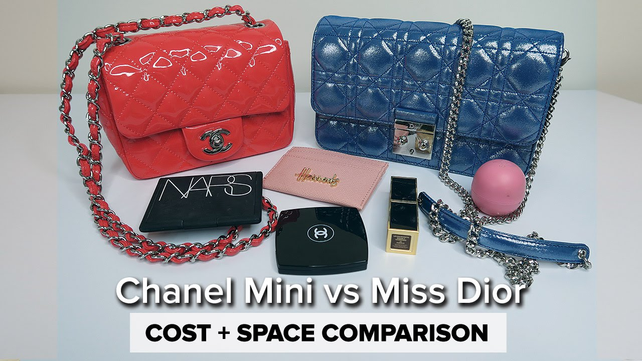 1f18b5c3c2 MISS DIOR vs. CHANEL MINI // What Fits + Prices - YouTube