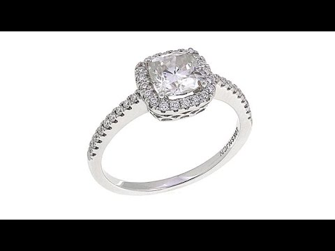 10K Gold 1.28ctw Moissanite CushionCut Ring. https://pixlypro.com/5YVIlLn