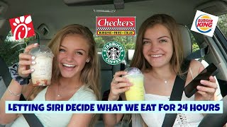 Letting Siri Decide What We Eat for 24 Hours ~ Jacy and Kacy