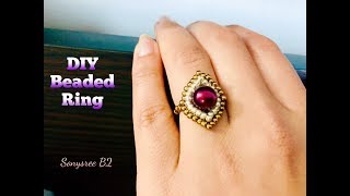 DIY Stunning Ring 💍. Beaded Ring. How to make beaded Ring