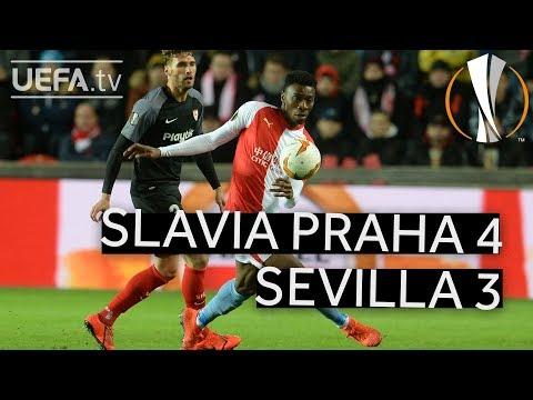 SLAVIA PRAHA 4-3 SEVILLA #UEL HIGHLIGHTS