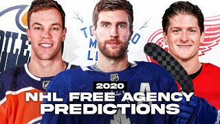 My 2020 Nhl Free Agency Predictions Youtube