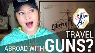 An American Traveling to Paris... with Guns to Compete   JulieG.TV
