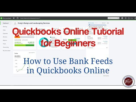 Quickbooks Online Tutorial For Beginners - How To Use Bank Feeds In Quickbooks Online