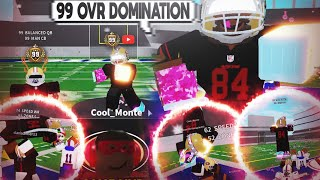 99 QB + 99 WR = DOMINATION In ROBLOX Football Universe